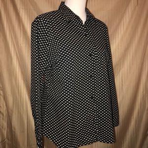 Apt 9 long sleeved black/cream patterned